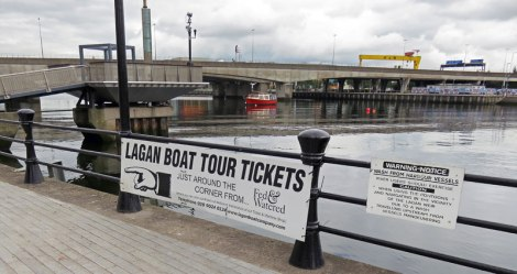 Boat Tour of the Lagan River and Harbour of Belfast, Ireland