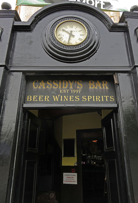 In the morning Cassidy's Bar in Belfast serves breakfast but no spirits