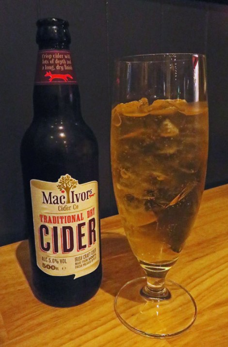 Cider at Hadskis Restaurant in Belfast