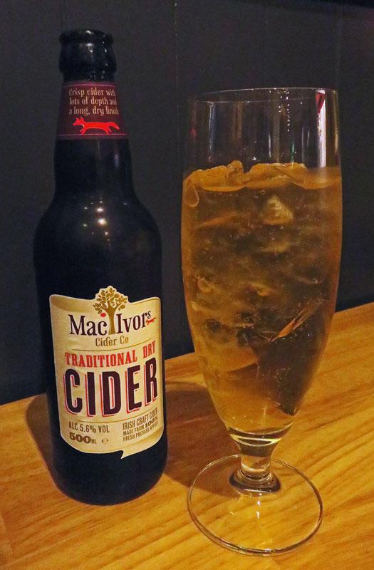 Cider at Hadskis Restaurant in Belfast
