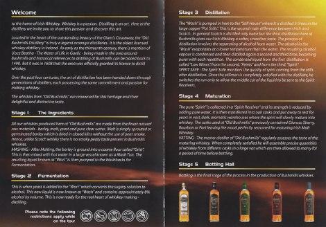 Bushmills Distillery Brochure