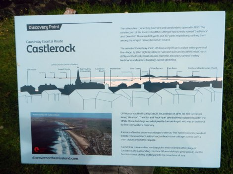 Notes about the town of Castlerock, Ireland