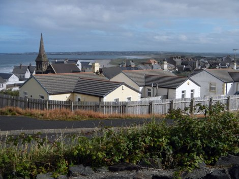 View of Castlerock town that matches the notes