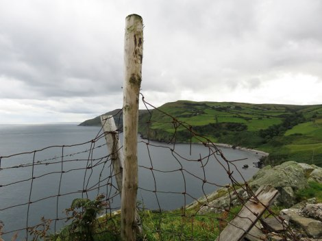 A detour on the Coastal Causeway route in Northern Ireland, UKroad in Northern Ireland, UK leads to Torr Head