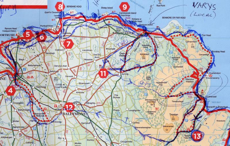 Coastal Causeway route on Tuesday