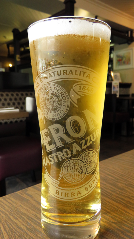 We stopped for a Peroni beer at Cushendale, a small town on the Coastal Causeway route in Northern Ireland, UK