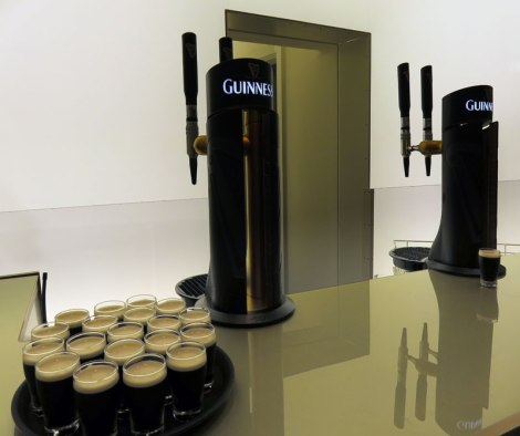 The 'White Room' in the Guinness Storehouse, a sensory room designed to to heighten your sense of smell