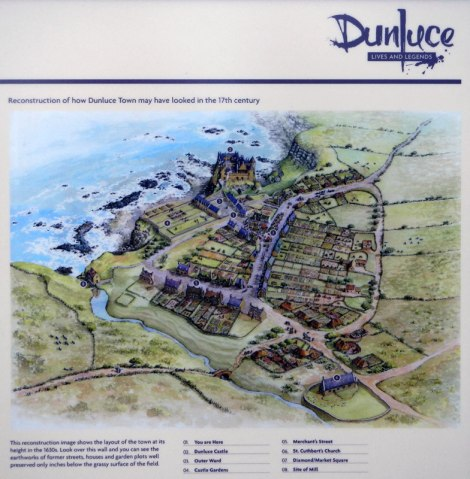 Notes on Dunluce Castle ruins in Northern Ireland, UK