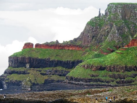 Walk to Giant's Causeway in Northern Ireland, UK