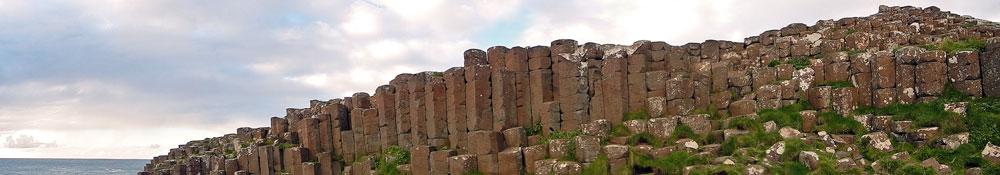 Walk to Giant's Causeway in Northern Ireland, UK