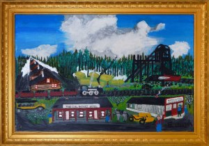Dad's Painting of the Coal Nugget Hotel in Morden