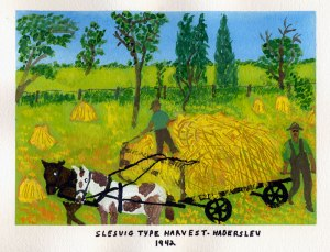 Dad's painting of the harvest in Denmark, 1942