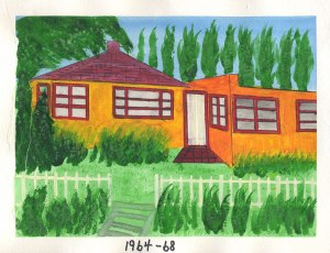 Dad's painting of the house in Sidney BC, 1965