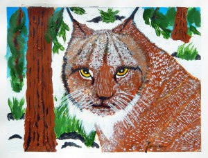 Dad's painting of a lynx