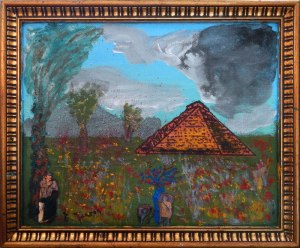 Dad's Painting of a Pyramid