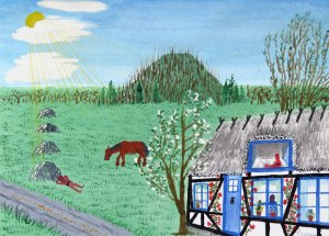 Dad's painting of a farm in Denmark