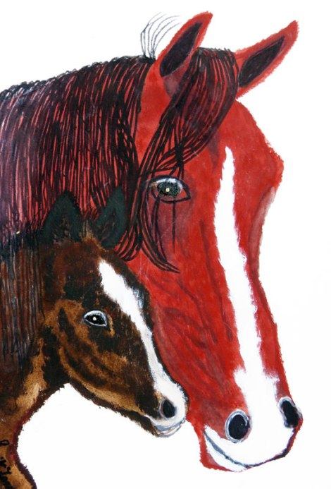Dad's Painting of a Horse and Colt
