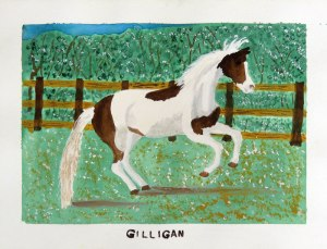Dad's painting of his horse Gilligan