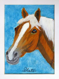 Dad's painting of his horse Plato