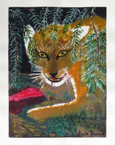 Dad's Painting of a Lionness