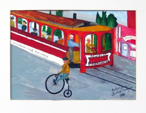 Dad's painting of a San Francisco Cable Car