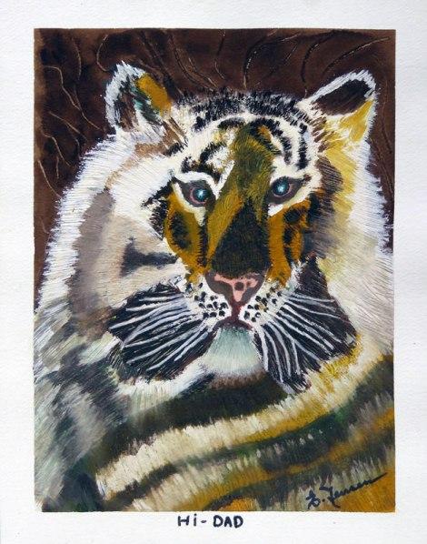 Dad's painting of a tiger (Hi Dad!)