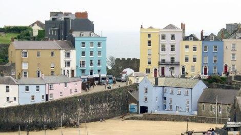Tenby's Pastel Buildings on Its Tidal Harbour