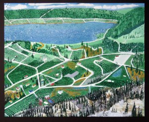 Dad's Painting of the Family Farm in Summerland BC