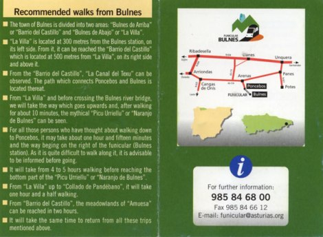 Recommended walks around Bulnes