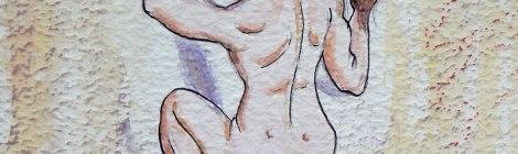 Climbing Picos de Europa naked cartoon