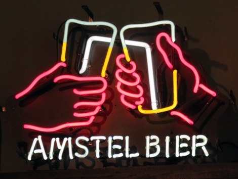 Amstel Beer neon sign in Utrecht, Holland