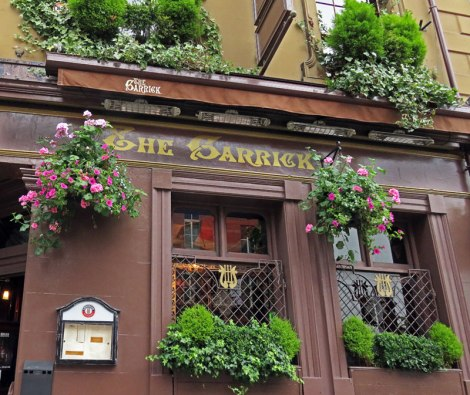 The exterior of The Garrick, a pub in Belfast, UK