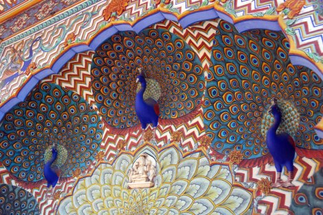 The Peacock Room in Jaipur Palace, India