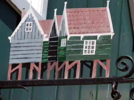 A miniature of a the typical houses in Marken, Holland
