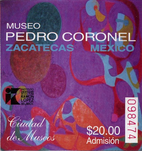 Ticket into Museo Pedro Coronel in Zacatecas, Mexico