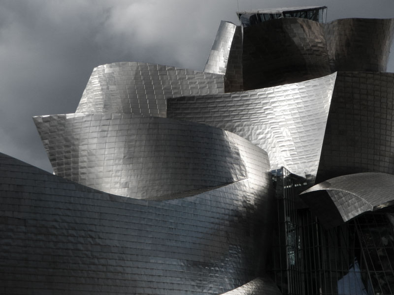 guggenheim modern art museum in bilbao  spain