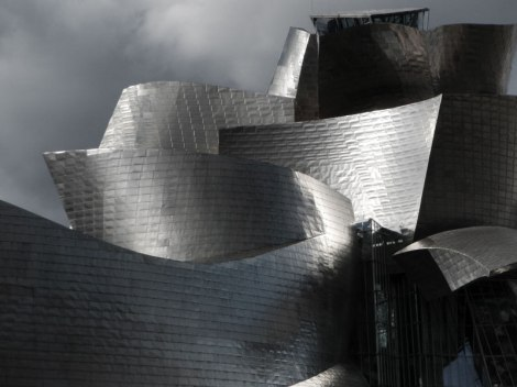 The Frank Gehry designed building of the Guggenheim Museum of Modern Art in Bilbao
