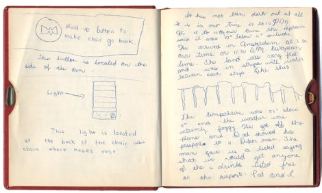 Travel journal from 1965 trip to Denmark