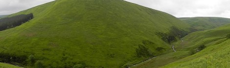 The rolling hills on our walk past the Ladybower Reservoir in the Peaks District of England