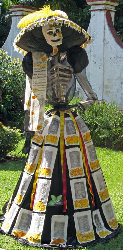 Doña Catrina, a well-dressed skeleton celebrating the Day of the Dead in Mexico