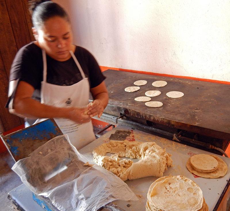 A tortilla shop in Mascota