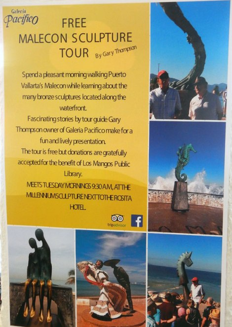 Malecon sculpture tour poster