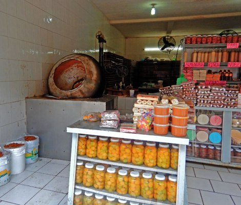 Canned fruits and candy making at a candy store in Talpa, one of Mexico's Pueblos Magicos