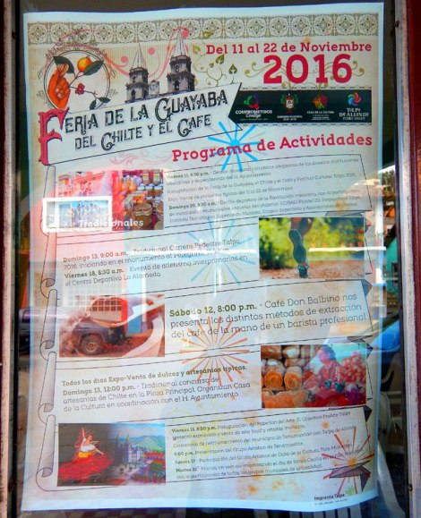 Poster for the Feria de la guayaba (guava) in Talpa, one of Mexico's Pueblos Magicos