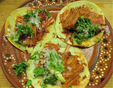 Tacos pastor at Pancho's Takos