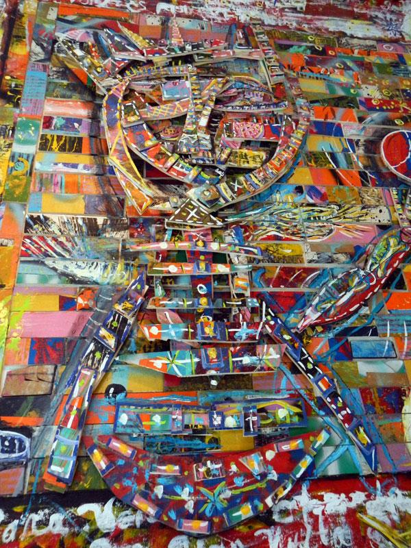 Bright painting in a Puerto Vallarta gallery