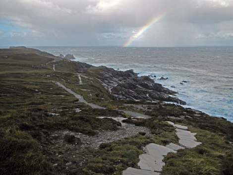 Malin head path leads to a rainbow...