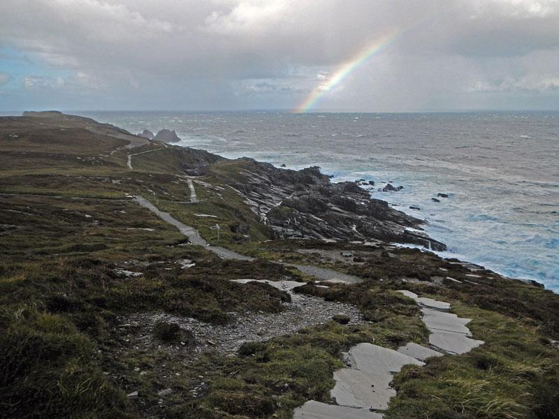 Malin head path leads to a rainbow...