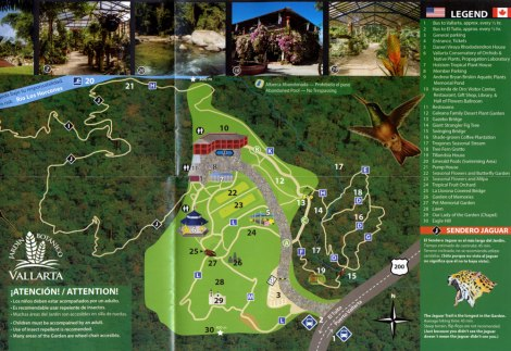 map of the Puerto Vallarta Botanical Garden