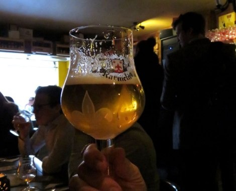 Tripel Karmeliet, one of a zillion delicious Belgian beers